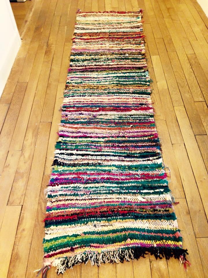 Tapis Boucherouite De Couloir Multicolore R Versible Luckyfind