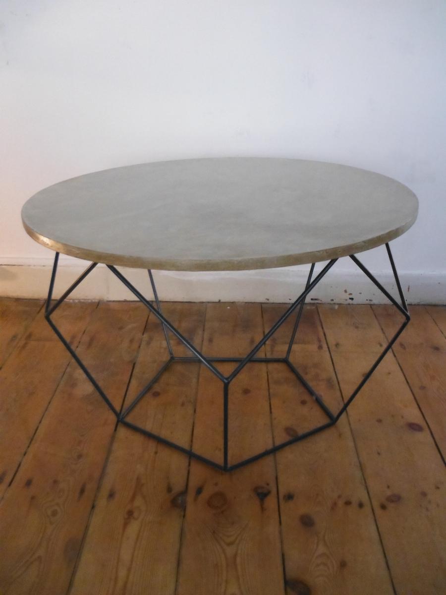table basse hexagonale luckyfind. Black Bedroom Furniture Sets. Home Design Ideas