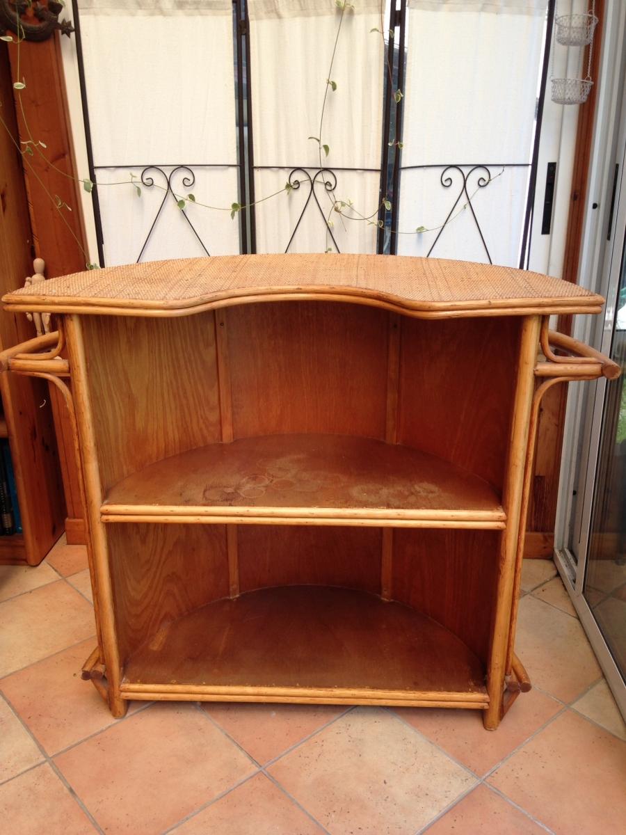 free meuble bar vintage en rotin with meuble bar vintage. Black Bedroom Furniture Sets. Home Design Ideas