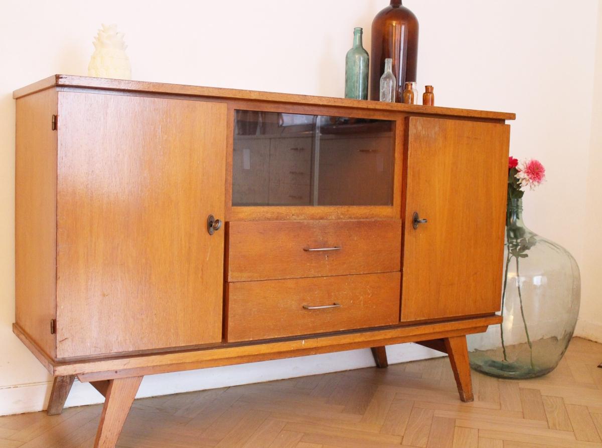 buffet enfilade scandinave vintage ann es 70 luckyfind. Black Bedroom Furniture Sets. Home Design Ideas
