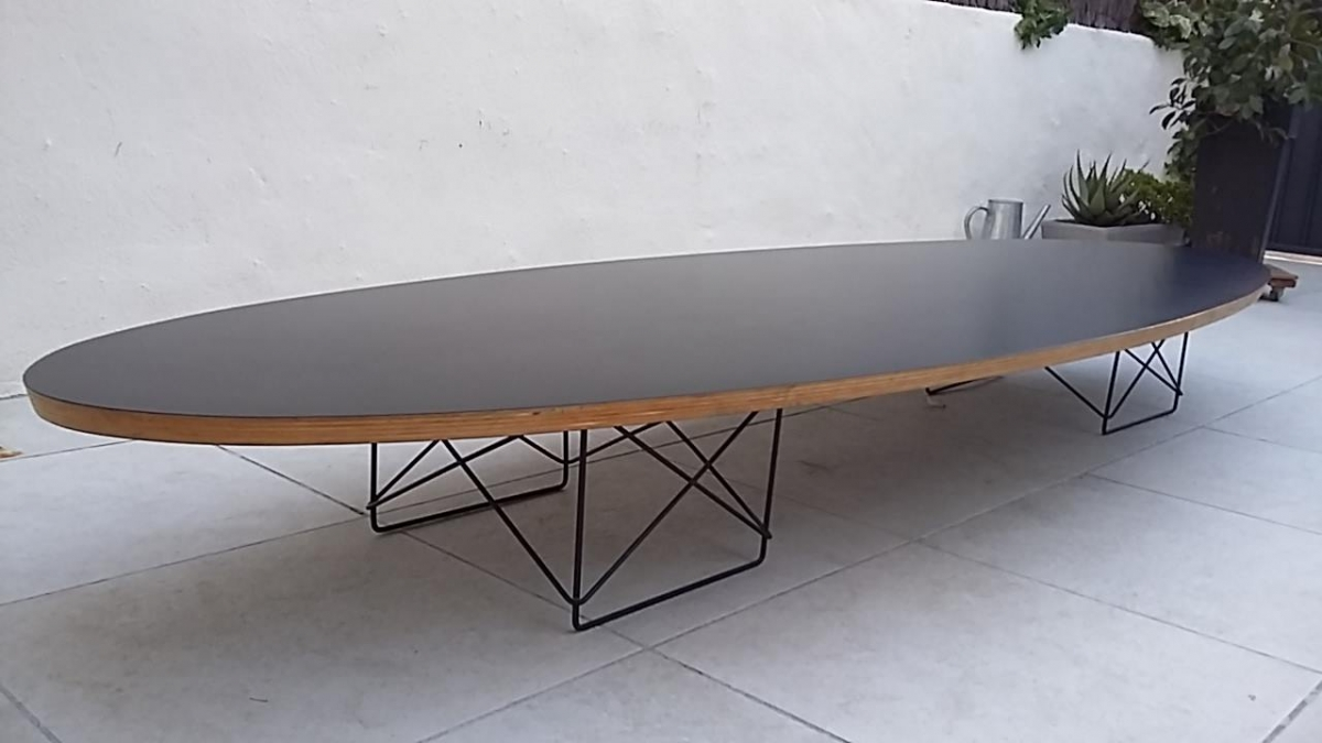 table basse style elliptical table etr charles & ray eames, 1951