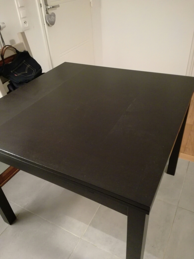 Table extensible ikea mod le bjursta brun noir luckyfind for Table extensible ikea bjursta brun noir