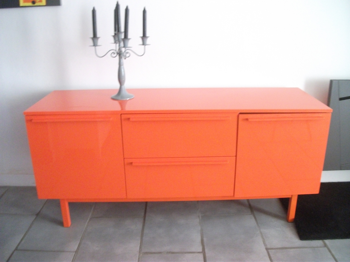 meuble de salon orange laqu luckyfind