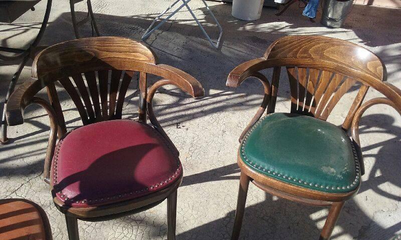 4 fauteuils bistrot style baumann luckyfind. Black Bedroom Furniture Sets. Home Design Ideas