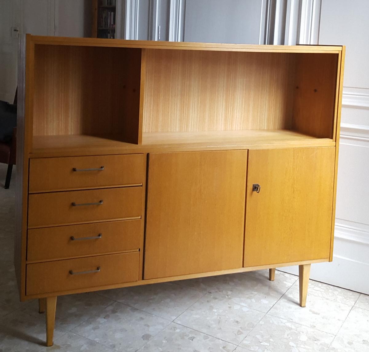 enfilade bahut en bois pieds fuseaux style scandinave luckyfind. Black Bedroom Furniture Sets. Home Design Ideas