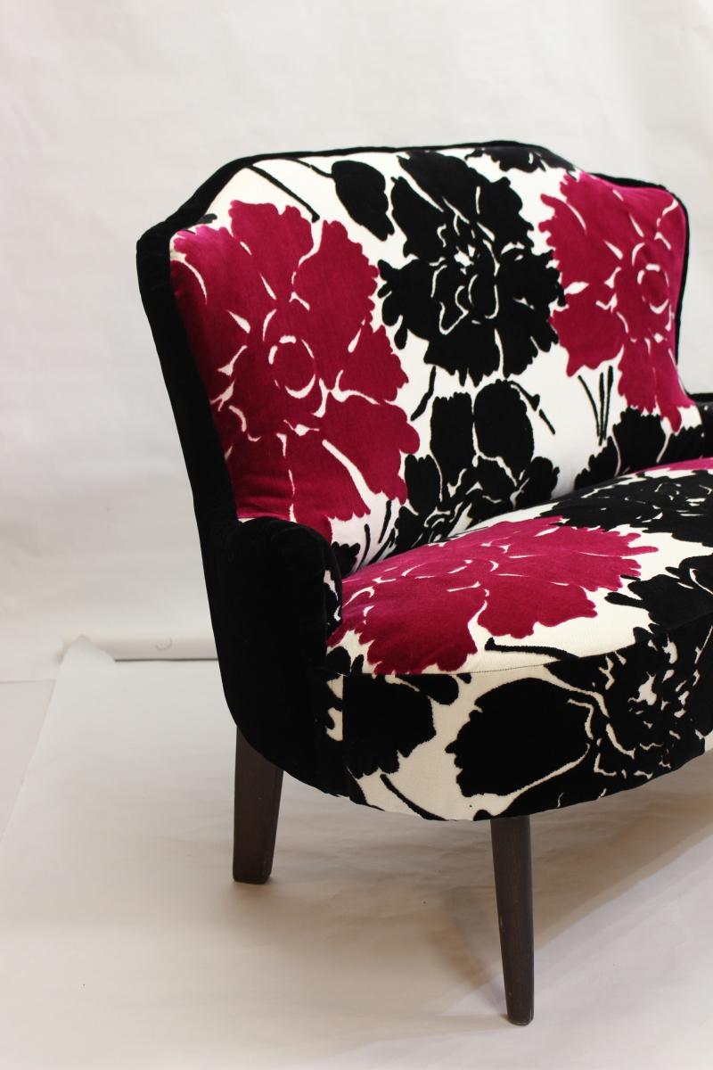 canap vintage su dois ann e 40 50 luckyfind. Black Bedroom Furniture Sets. Home Design Ideas