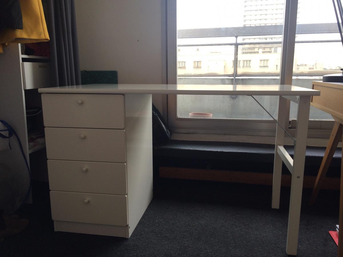 Bureau ikea blanc à tiroirs u2013 luckyfind