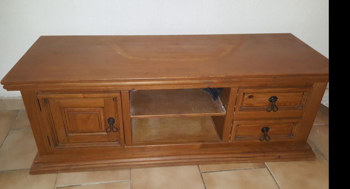 meuble tv en pin massif cir miel luckyfind