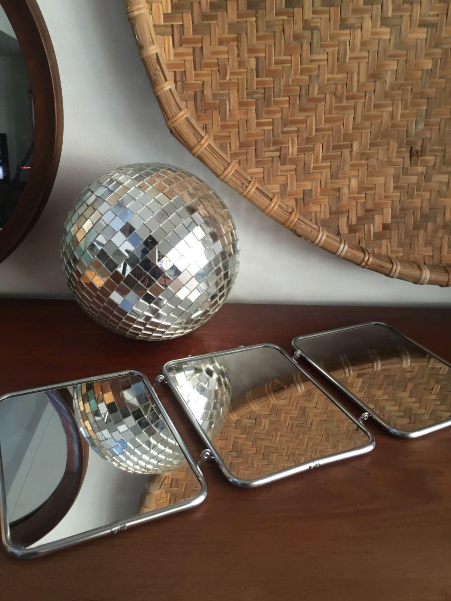 miroir de barbier triptyque luckyfind. Black Bedroom Furniture Sets. Home Design Ideas