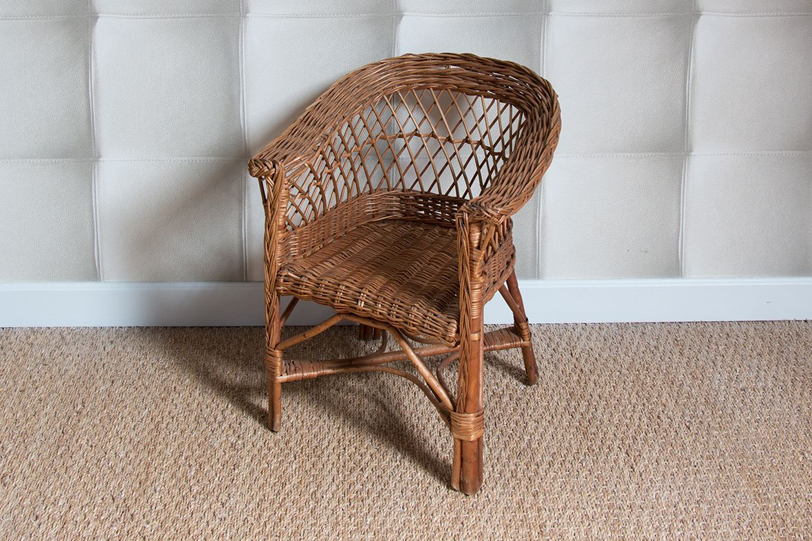 fauteuil enfant en osier luckyfind. Black Bedroom Furniture Sets. Home Design Ideas