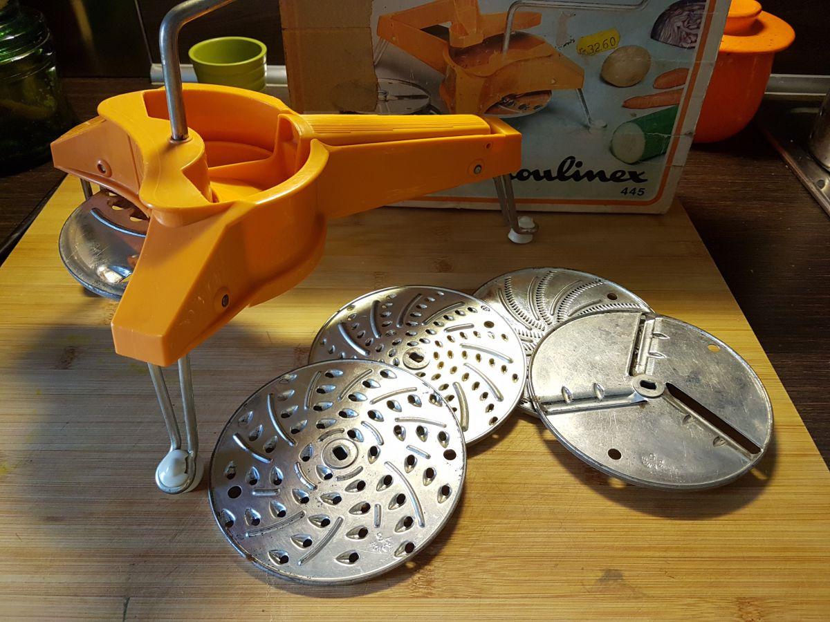 Mouli julienne moulinex 445 broyeur rotatif r pe trancheuse cuisine luckyfind - Appareil julienne legumes moulinex ...