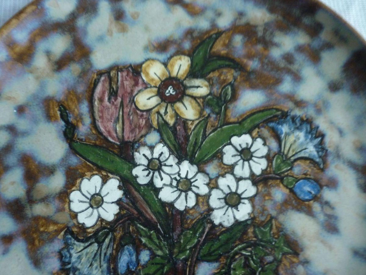 assiette en ceramique de vallauris fleurs luckyfind. Black Bedroom Furniture Sets. Home Design Ideas