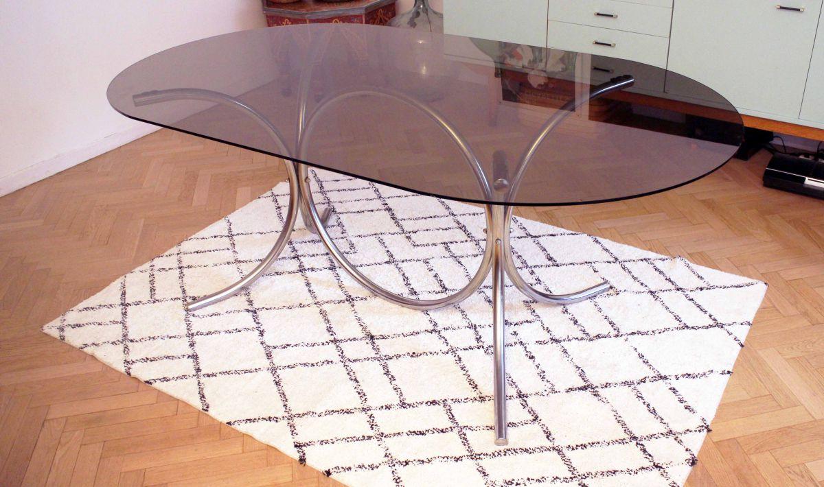 Grande Table Ovale Au Style Marcel Breuer Ann Es 60 70 Luckyfind