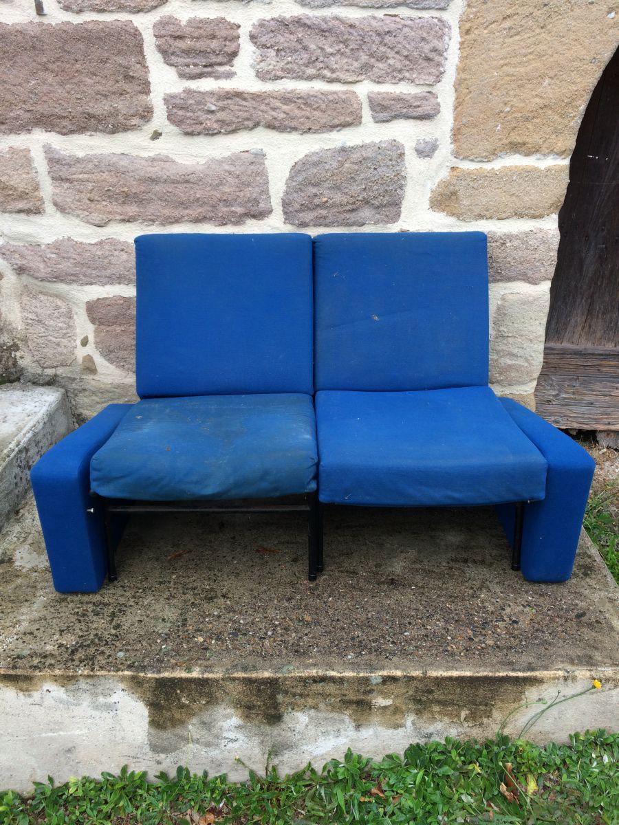 fauteuil et banquette pierre guariche luckyfind. Black Bedroom Furniture Sets. Home Design Ideas
