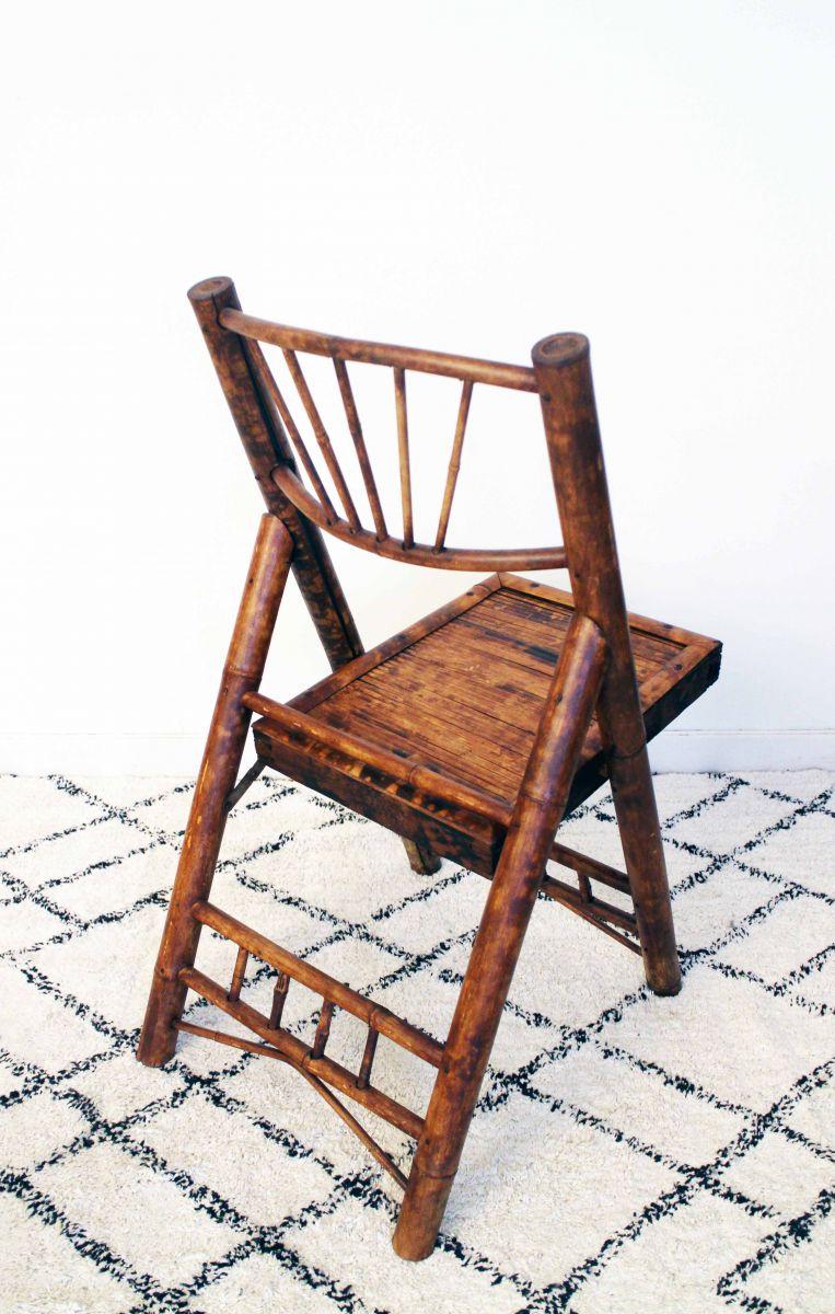 chaise en bambou vintage ramen e d 39 indochine luckyfind. Black Bedroom Furniture Sets. Home Design Ideas