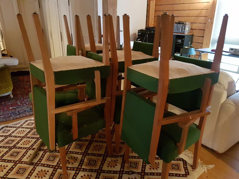 chaises fauteuils velour luckyfind. Black Bedroom Furniture Sets. Home Design Ideas