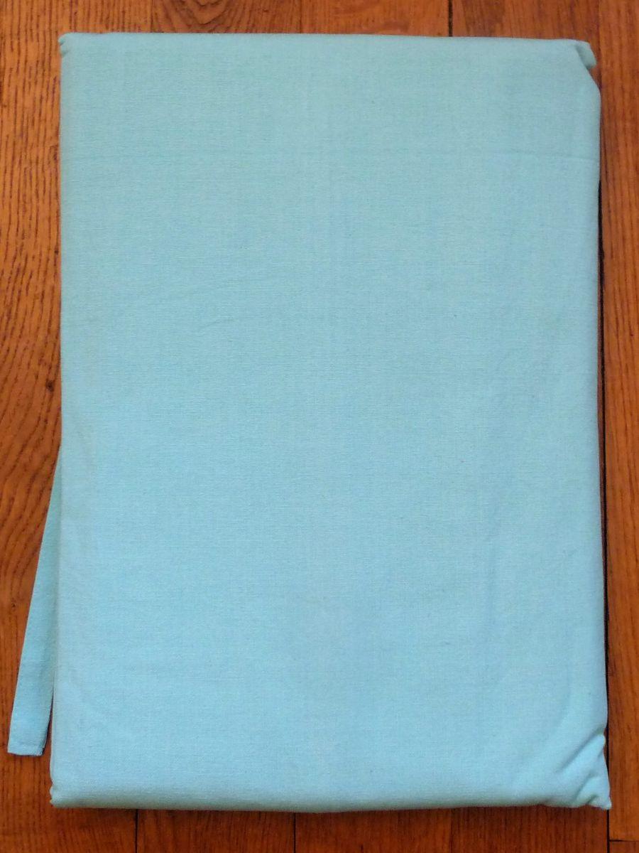 rideau tenture nouettes en 100 coton bleu turquoise. Black Bedroom Furniture Sets. Home Design Ideas