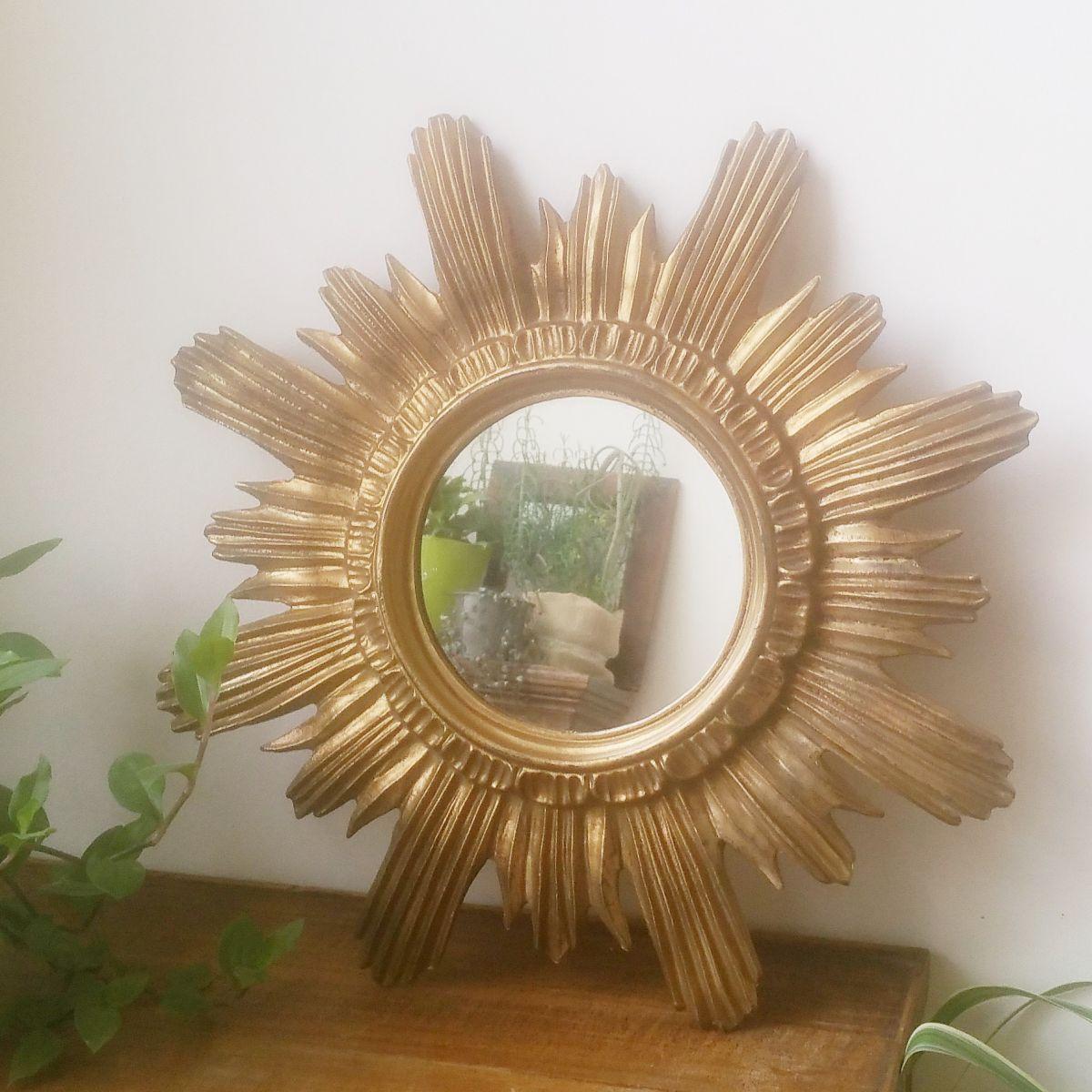 Miroir soleil des ann es 60 made in italy luckyfind for Miroir soleil prix