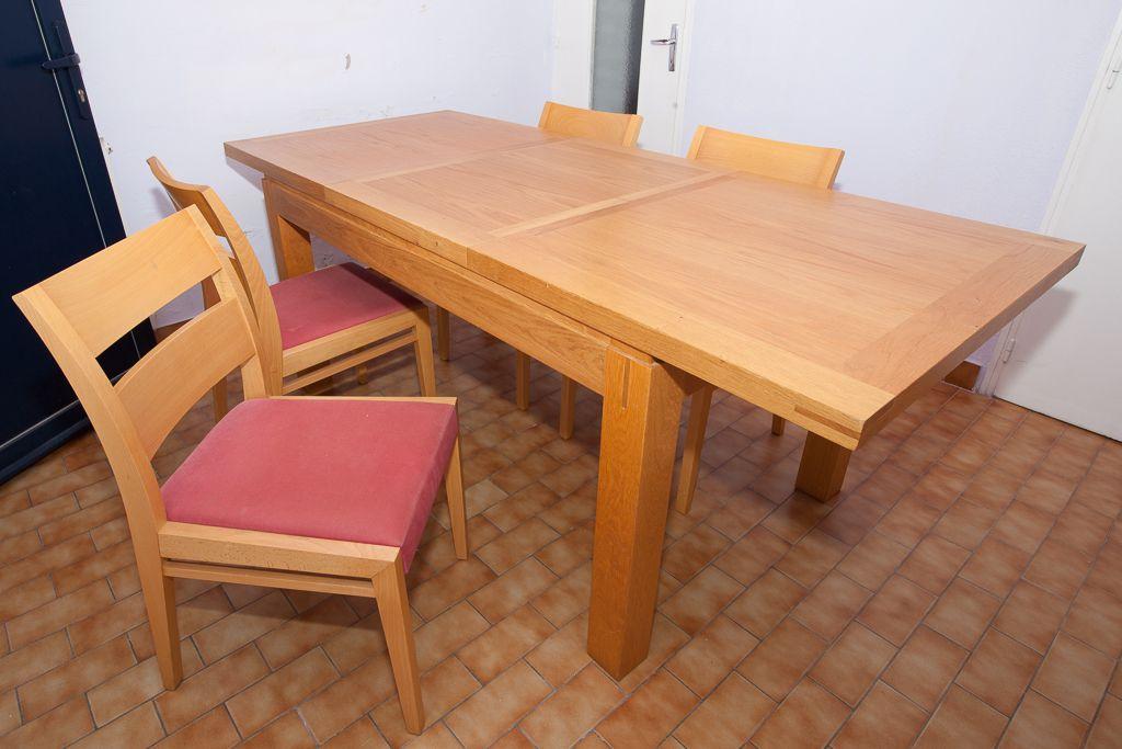 table salle a manger et ses 4 chaises luckyfind. Black Bedroom Furniture Sets. Home Design Ideas
