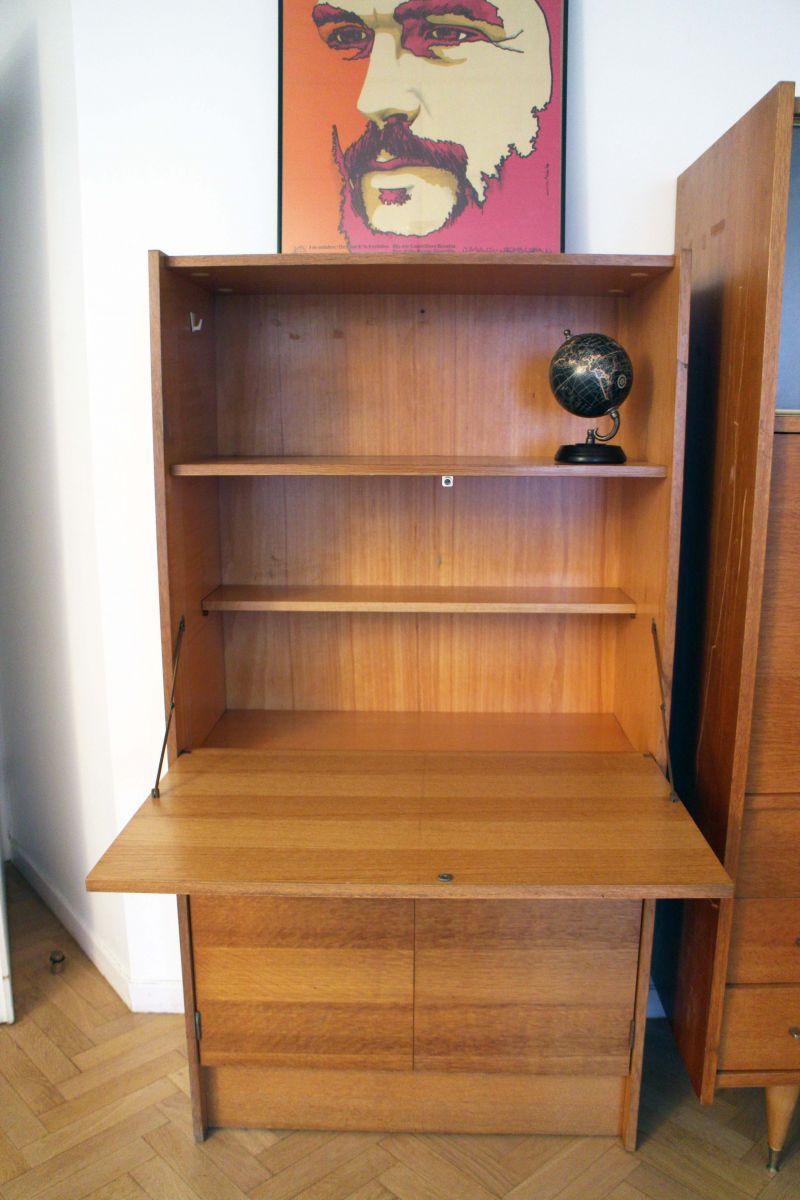 Secr taire bureau vintage style scandinave ann es 50 for Style scandinave annees 50