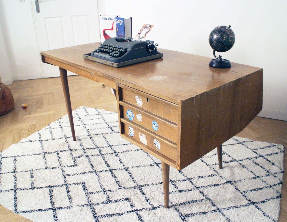Bureau vintage design scandinave ann es 50 60 luckyfind for Designer scandinave annees 50