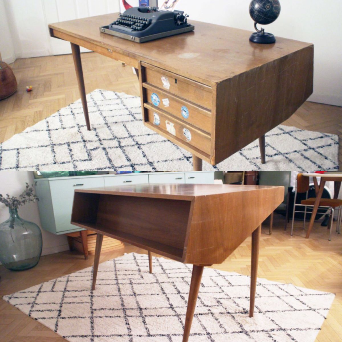 bureau vintage design scandinave ann es 50 60 luckyfind. Black Bedroom Furniture Sets. Home Design Ideas