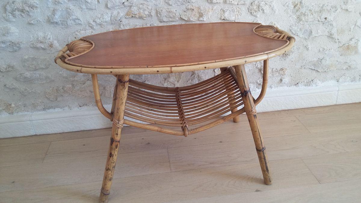 table basse en rotin luckyfind. Black Bedroom Furniture Sets. Home Design Ideas