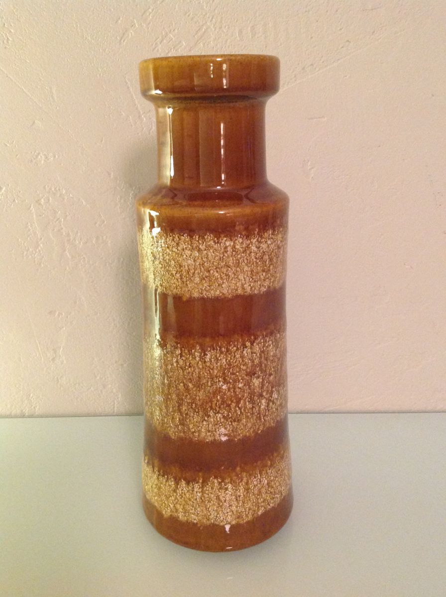 vase ceramique vintage style scandinave beige et marron. Black Bedroom Furniture Sets. Home Design Ideas