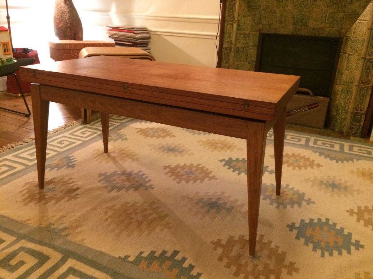 table vintage hauteur r glable 1950 luckyfind. Black Bedroom Furniture Sets. Home Design Ideas