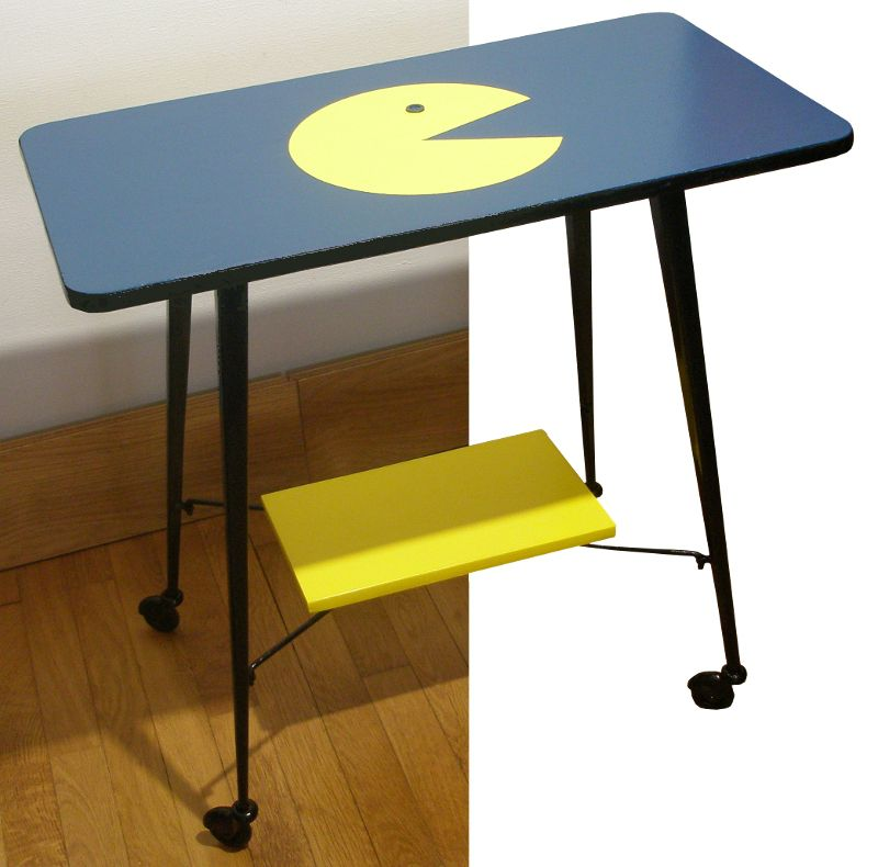 Table t l roulette ann es 70 packy luckyfind for Petite table tele