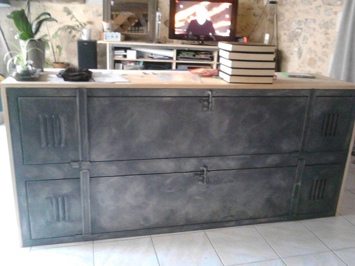 commode industrielle luckyfind. Black Bedroom Furniture Sets. Home Design Ideas
