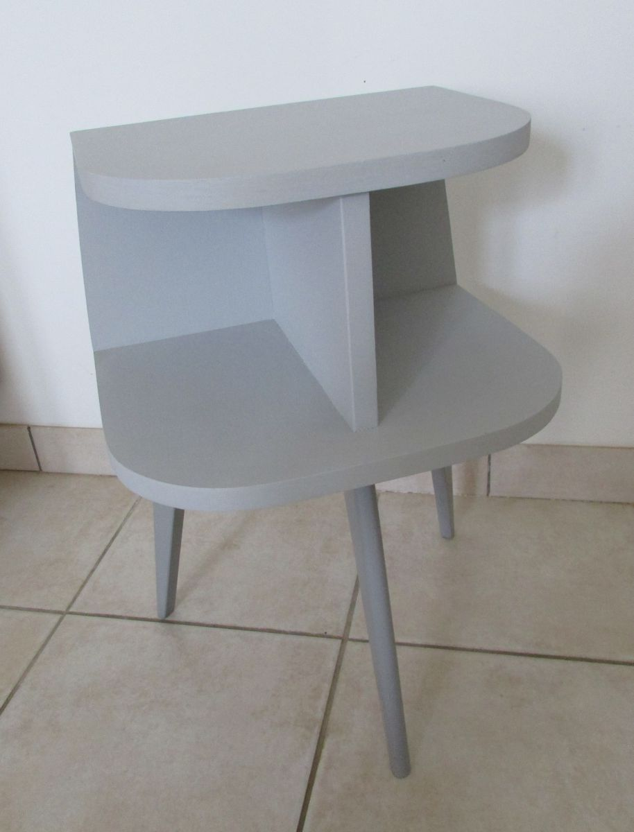 Table de nuit chevet tripode scandinave vintage luckyfind - Table de nuit scandinave ...