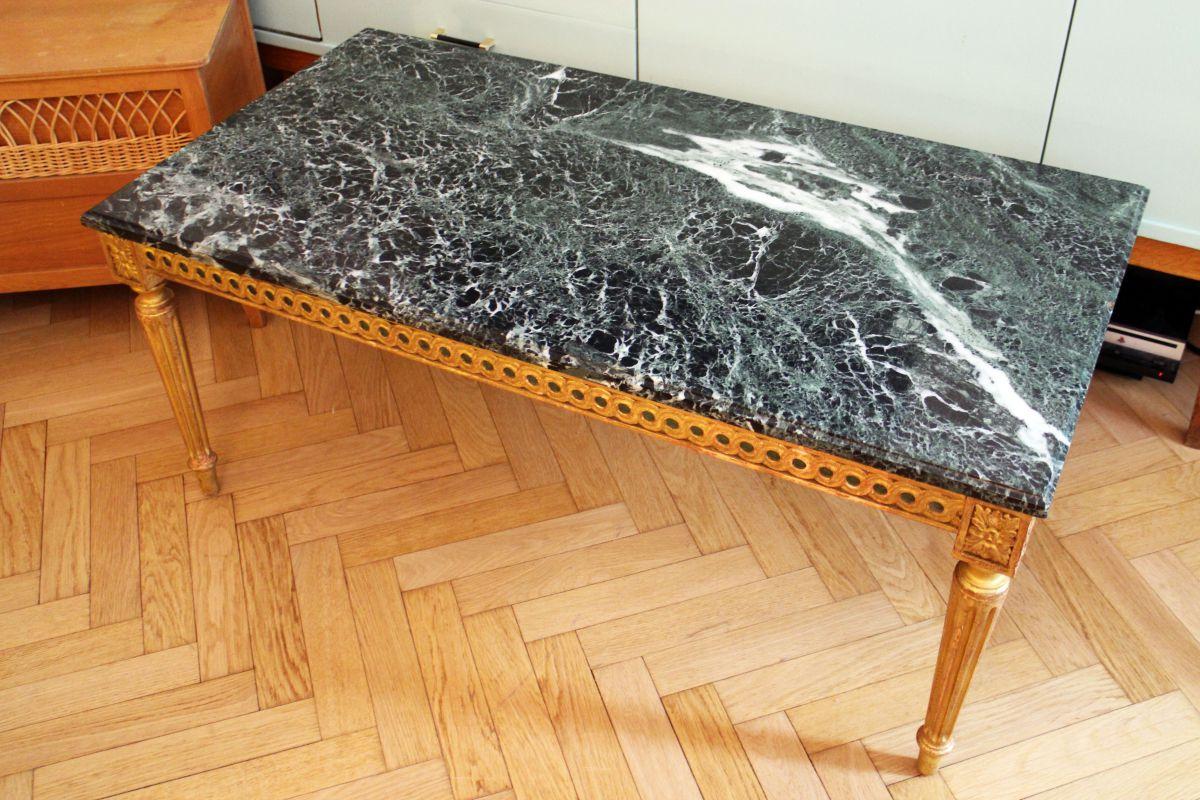 table basse en marbre vert des alpes des ann es 60 70. Black Bedroom Furniture Sets. Home Design Ideas