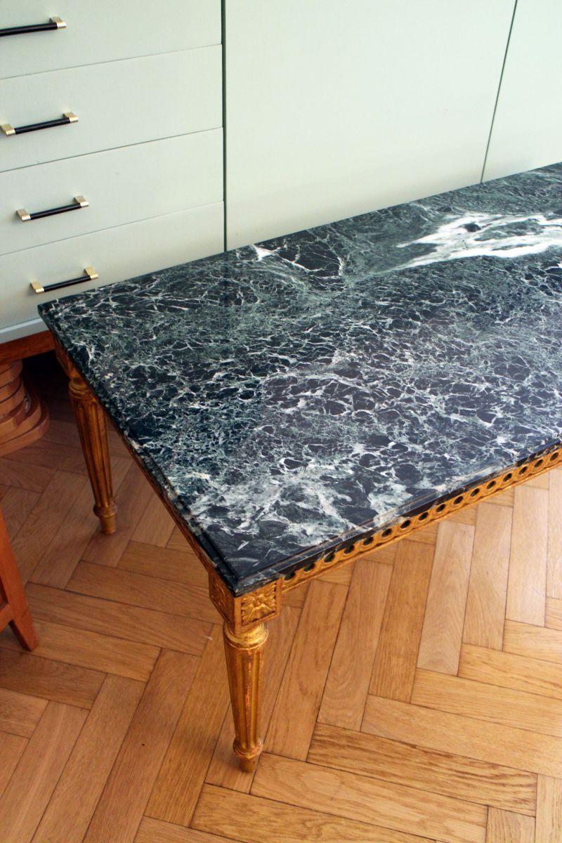 table basse en marbre vert des alpes des ann es 60 70 luckyfind. Black Bedroom Furniture Sets. Home Design Ideas