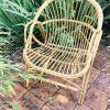 Joli fauteuil en rotin des années 60