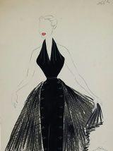 Croquis Mode 1950 / Robes du soir