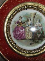 6 Mini Assiettes Murales Porcelaine Métal Gunga Din England
