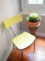 Paire de chaises Formica revisitées