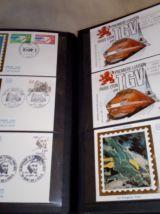 Album Yvert Et Tellier 186 enveloppes en soie du premier jour de 1975 à 1982
