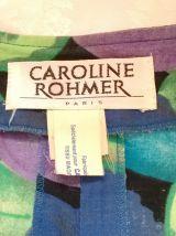 Robe printanière vintage Caroline Rohmer tendance années 80 T38