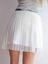 Jupe blanche fluide ceinture noire sexy tendance plissée H&M femme taille 36