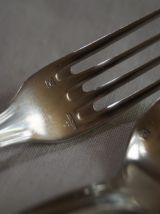 Ercuis-Couverts de Baptême en métal argenté