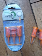 Brush T - Golf Tees- Oversize 62mm orange- 1 Pack de 3 + 2 seuls - Neufs