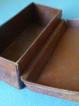 coffret en cuir vintage + clé
