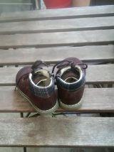 Boots en cuir marron T. 20