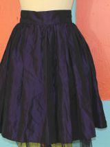 jupe taille haute bouffante tutu violet T38 vintage gothique rock lolita/kawaii/punk