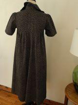 Ravissante robe d'été Tissu Liberty Coton Vintage 70'S - Fabriquée en France -Bohême chic