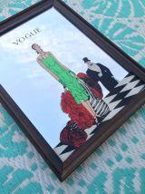 """Miroir VOGUE """"Art déco"""" tableau vintage cadre déco"""