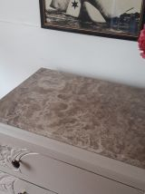 Grande commode plateau en marbre