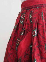 Jupe folklorique matelassée rouge